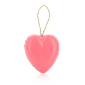 Le coeur rouge avec corde 90 g