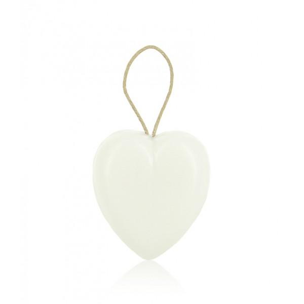 Le coeur blanc avec corde 90 g